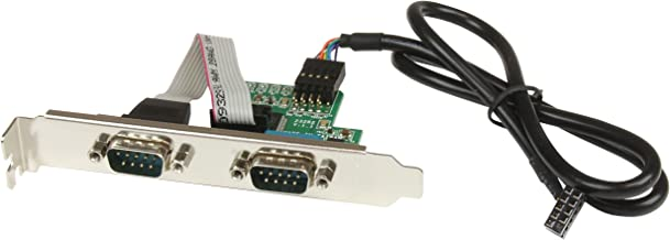 StarTech.com Motherboard Serial Port - Internal - 2 Port - Bus Powered - FTDI USB to Serial Adapter - USB to RS232 Adapter (ICUSB232INT2)