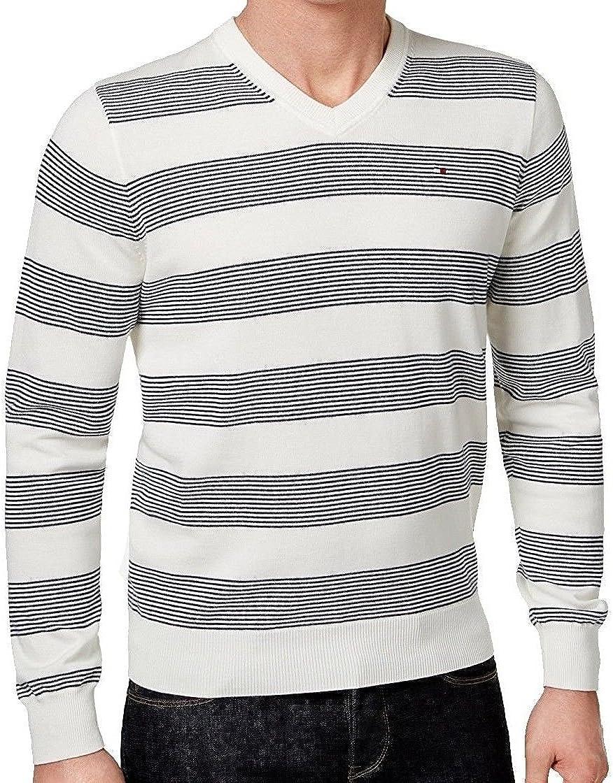 Tommy Hilfiger Men's Carrington V-Neck Striped Pullover Sweater
