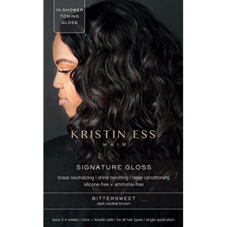 Kristin Ess Signature Hair Gloss - Bittersweet: Dark Neutral Brown