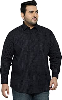 aLL Plus Size Navy Printed Regular Fit Casual Shirt