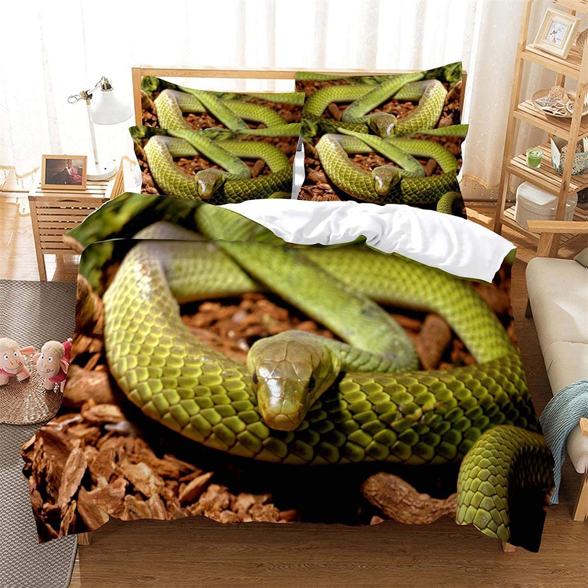 QINGER Manufacturer direct delivery Snake-Shaped Max 65% OFF Quilt Cover Python 3D Reptile