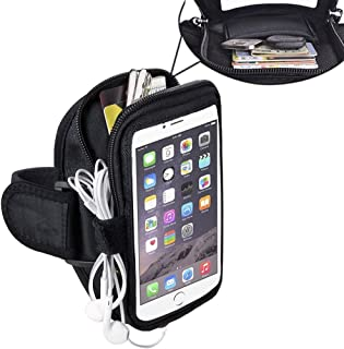 Jlyifan Nylon Zippered Pocket Running Sports Gym Armband Case for iPhone 11 / iPhone 11 Pro Max/Motorola Moto E6 / One Zoom/LG K30 K40 / Google Pixel 3a / Xiaomi Redmi Note 8
