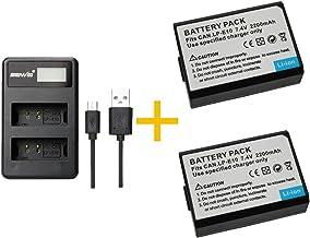 2 Piezas 2200mAH LP-E10 LPE10 Batería con Cargador de batería para Canon EOS Rebel T3, T5, T6, Kiss X50, Kiss X70, EOS 1100D, EOS 1200D, EOS 1300D (2 pcs Battery with Charger)