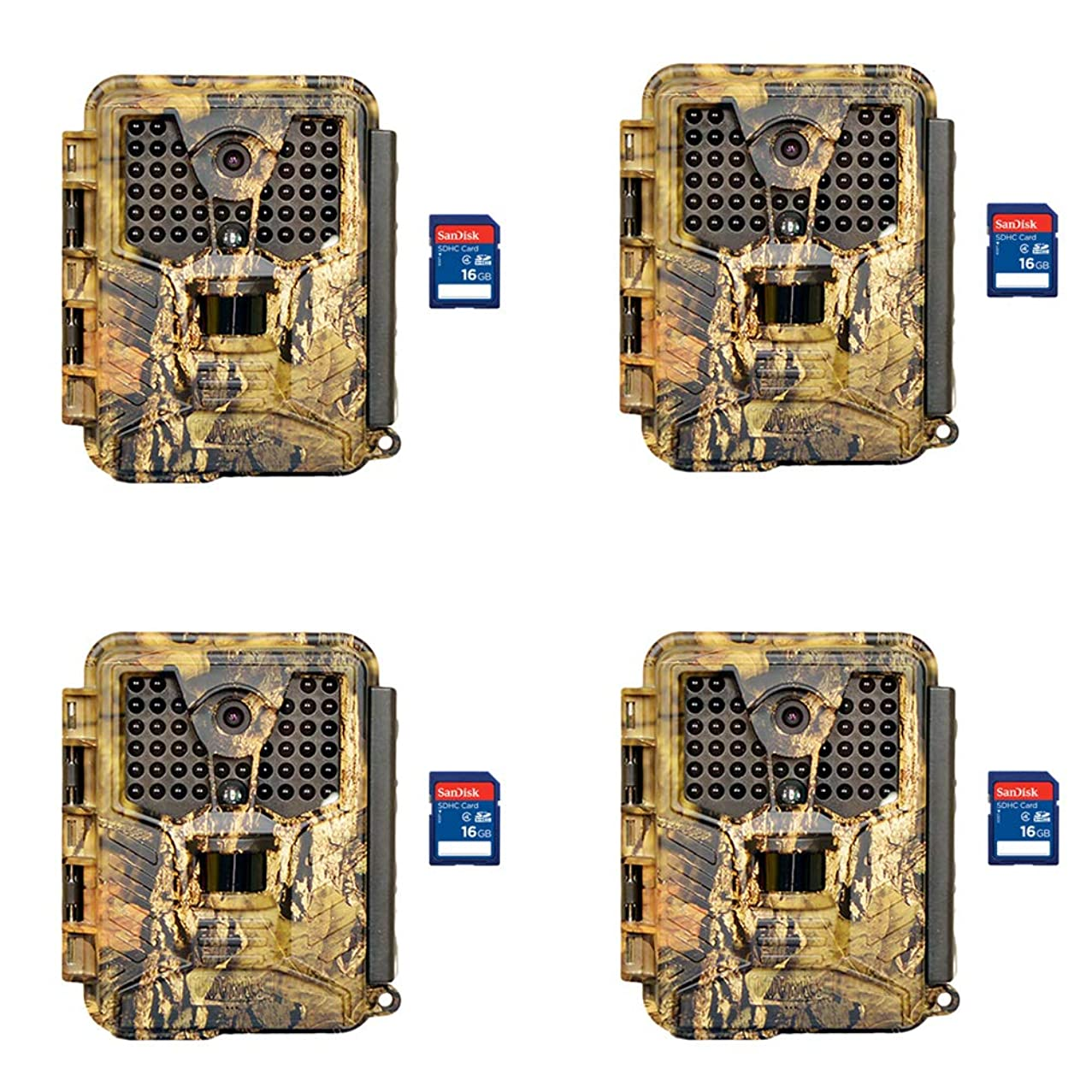 Covert Ice Infrared Video & Audio Game Hunting Camera + 16GB SD Card (4 Each)