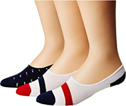 Polo Ralph Lauren - Flags Liner 3-Pack Socks