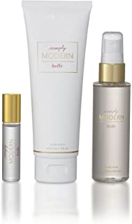 Belle - Simply Modern Rollerball, Mist, Lotion Deluxe Gift Set - Hydrating Lotion, Eau De Parfum and Body Mist - Juicy Citrus, Fresh Mint, Masculine Woods