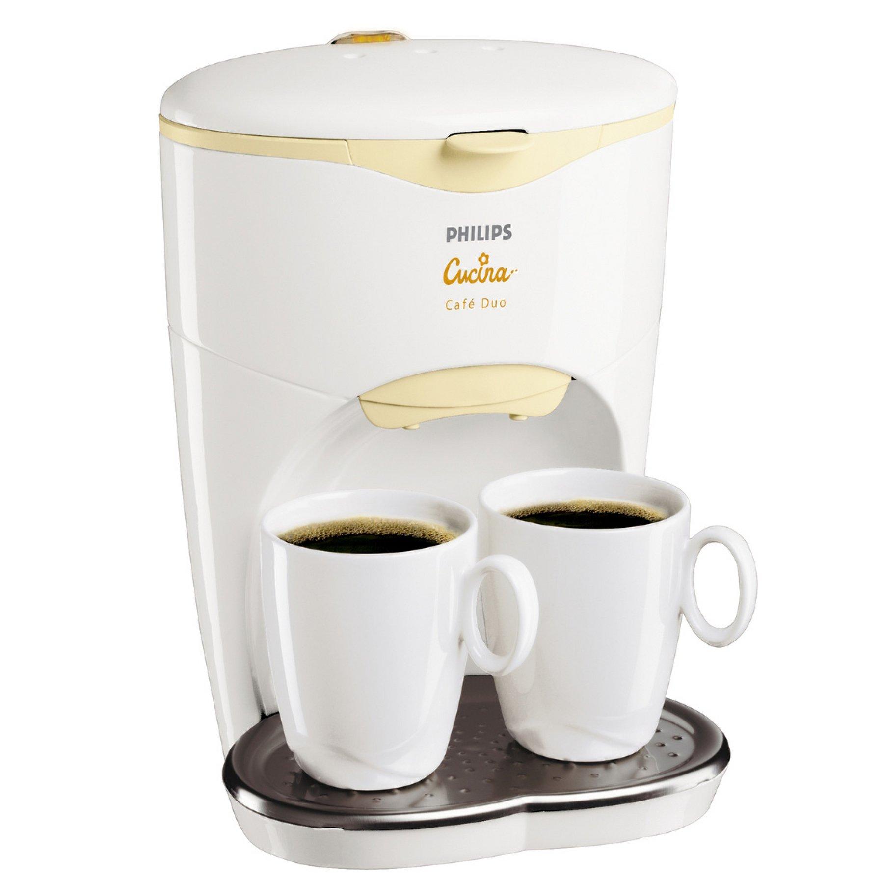 Philips Cucina Café Duo HD 7140/80, Crema, Blanco, 550 W, 110-130 ...