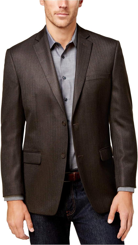 Marc New York Mens Herringbone Two Button Blazer Jacket