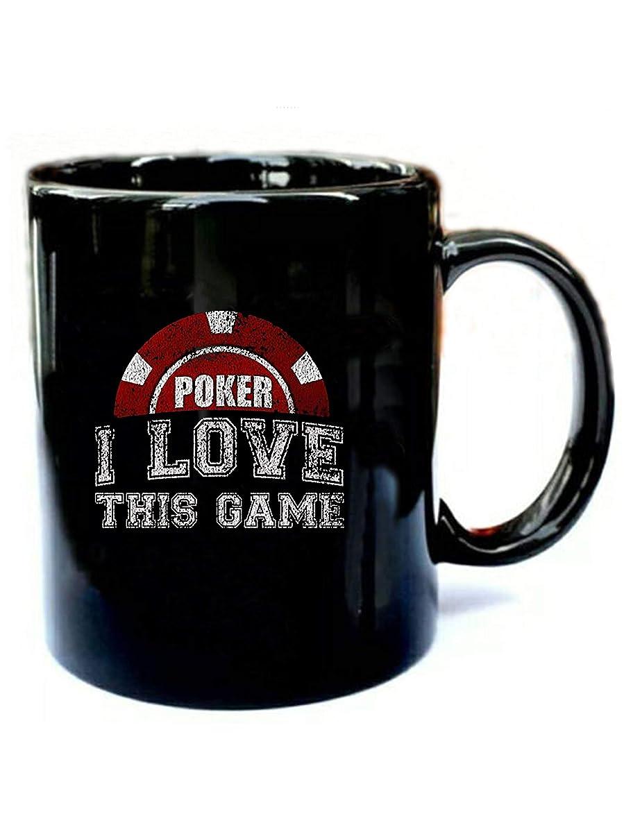 Poker I Love This Game Distressed - Funny Gift Black 11oz Ceramic Coffee Mug
