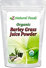 Organic Barley Grass Juice Powder - 6 oz - Amazing Green Superfood Perfect For Smoothies, Drinks, & Recipes - Rich In Vita...