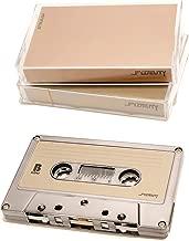 FYDELITY Blank Cassette Mixed Tape C-60 Audio 60-Min 5 Pack: Gun Metal Chrome