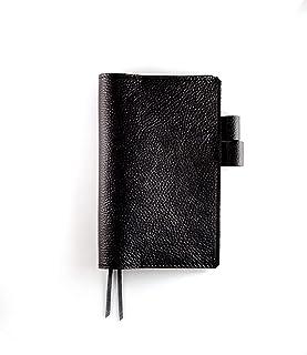 ジブン手帳mini(B6スリム)本革レザーカバー・シボ革ブラック