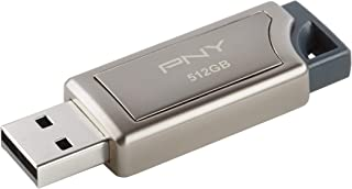 PNY Pro Elite USB 3.0 Premium Flash Drive, Read Speeds up to 380MB/Sec Silver 512GB