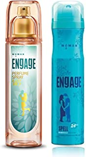 Engage W3 Perfume Spray For Women, 120ml and Engage Spell Deodorant For Women, 150ml / 165ml