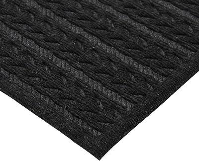JVL Knit Design Scraper Cable Door Mat, Charcoal, 40 x 60 cm