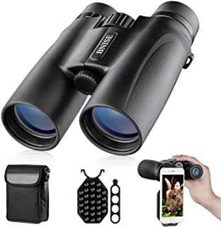 Binoculars for Adults, 10X42 Roof Prism Low Light Night Vision Lightweight Compact Binocular for Bird Watching, Hunting, T...