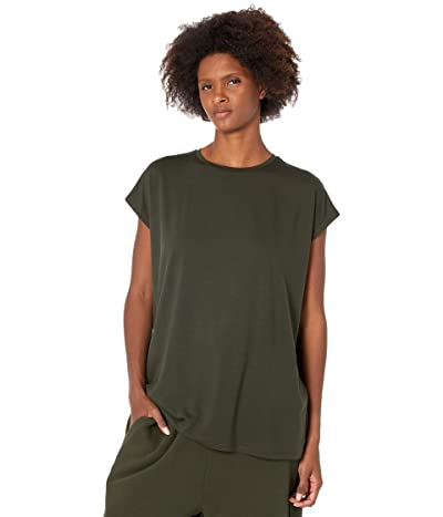 Eileen Fisher Crew Neck Boxy Tunic in Fine Jersey