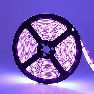 ANJAYLIA Blacklight UV LED Strip Light 16.4Ft/5M Flexible Waterproof LED Tape Light,NO Power Supply