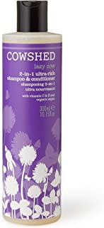 Cowshed Lazy Cow 2-in-1 Ultra Rich Shampoo & Conditioner for Women, 10.15 Ounce