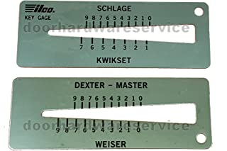 Key Cut Gauge Decoder Tool for Kwikset Schlage Dexter Weiser Lock Pinning