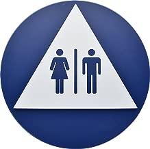 Signs ByLITA Circle Ladies and Gents Sign Set Dark Brown Medium