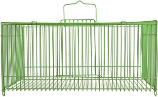 Travelling cage for Love Birds,Finches, Budgies, Canaries - Colors May Vary - Central Fish Aquarium (11x7x5.5 Inches)