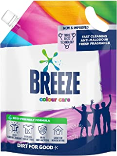 Breeze Liquid Detergent Refill, Colour Care, 1.8 L- packaging may vary