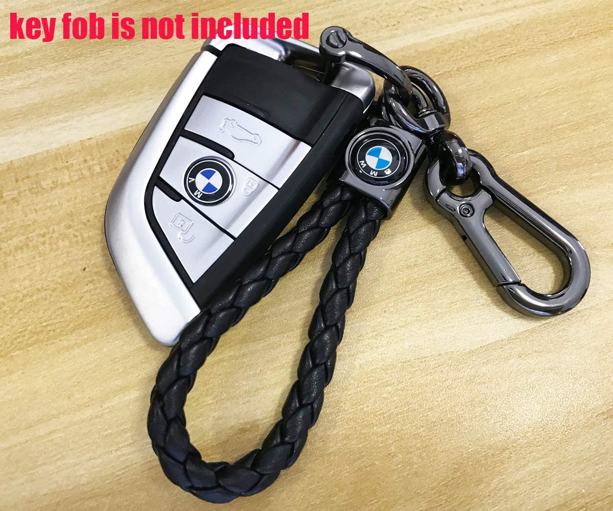 M Car Owner Key Chain Keyring Family Present for Man and Woman Genuine Leather Car Logo Suit Keychain for BMW 1 3 5 6 Series X5 X6 Z4 X1 X3 X7 7 Series