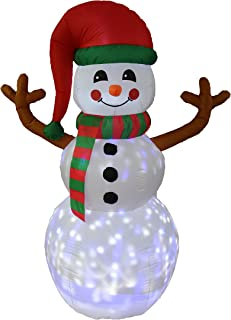 BZB Goods 6 Foot Tall Christmas Inflatable Snowman with Twinkle LED Lights Decor Outdoor Indoor Holiday Decorations, Blow up Lighted Yard Decor, Lawn Inflatables Home Family Outside