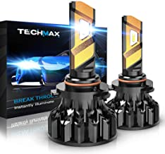 TECHMAX 9005 LED Headlight Bulbs,360 Degree Adjustable Beam Angle Cree Chips 12000Lm 6500K Xenon White Extremely Bright HB3 Conversion Kit of 2