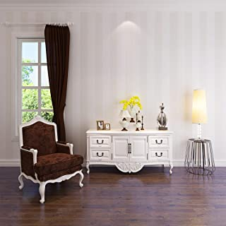 HANMERO® Murales de pared 3D papel pintado rayas papel de pared dormitorios/salón/hotel/fondo de TV/color color beige, blanco beige,0.53M*10M