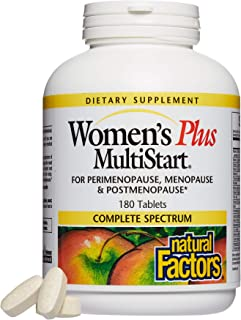 Natural Factors, Women's Plus MultiStart Daily Multivitamin, Nutritional Support for Each Stage of Menopause, 180 tablets ...
