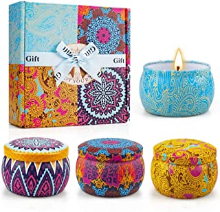 Best Yinuo Light Scented Candles Gifts Set for Women Aromatherapy Candles Upgraded Large Tin of Soy Candles for home Scented Lavender Candle, Gifts for Mother