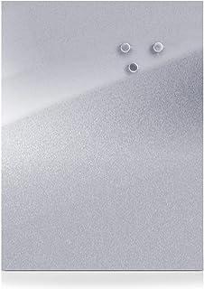 Zeller 11119 Tablero Magnético, Acero Inoxidable, Gris,