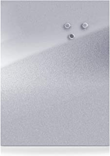 Zeller 11119 Tablero Magnético, Acero Inoxidable, Gris, 80x60x3 cm