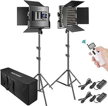 2-Pack Neewer 2.4G 660 LED Video Light Photography Lighting Kit