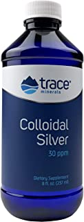 Trace Minerals Research Vegan Colloidal Silver, Bio-Active Silver Hydrosol Liquid Mineral Supplement, Natural & Pure, 30 P...