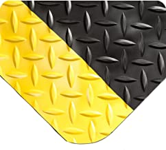Wearwell 415 916x3x22BYL Diamond Plate SpongeCote Length