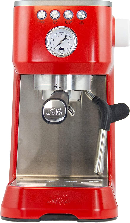 Solis Barista Perfetta Plus 1170 Cafetera Express Automática - Máquina de Café Expreso - 15 Bar - 1.7L - Acero Inoxidable - Rojo