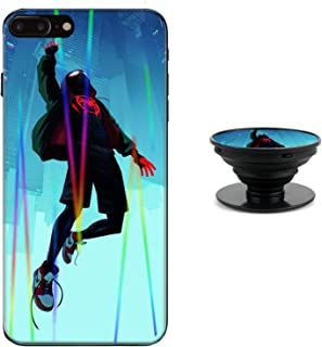 Spider-Man Phone Case for Iph-one 7 Puls 8 Puls (5.5 in) Aurora Color Soft TPU with Mobile Phone Bracket Fashion Spiderman Mobile Shell iPhone 7 Puls 8 Puls z1