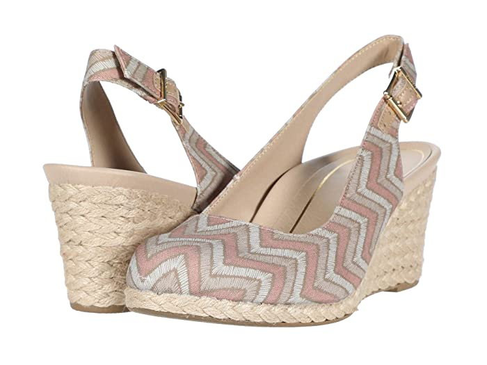VIONIC  Coralina (Dusty Pink Chevron) Womens Wedge Shoes