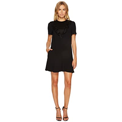 RED VALENTINO Crepe Envers Satin Dress (Black) Women
