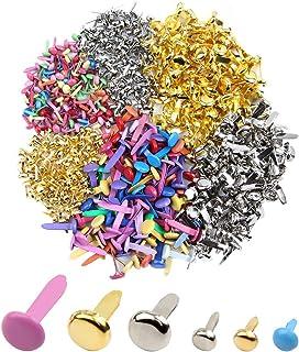 GHJK Mini Attaches Lot de 600 Multicolores Pack Mini Attaches parisiennes Rondes de Couleurs Assorties pour Le Scrapbookin...