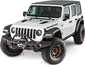 WARN 101337 Elite Series Full-Width Front Bumper for Jeep JL Wrangler, with Grille Guard Tube