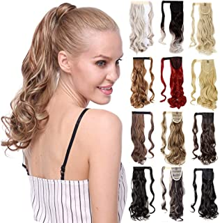 Straight Curly Wavy Wrap Around Claw Clip in Ponytail Bendable Pony Tail Hair Extension One Piece with Braiding