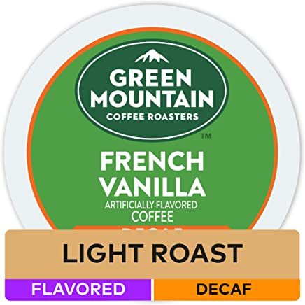 Green Mountain Coffee French Vanilla Decaf Keurig Single-Serve K-Cup Pods, Light Roast Coffee, 24 Count