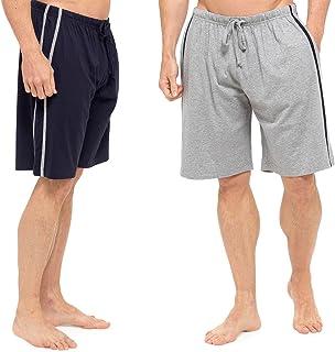 Tom Franks Mens 2 Pack Jersey Lounge Shorts Pyjamas PJ Bottoms Nightwear Soft Cotton Blend