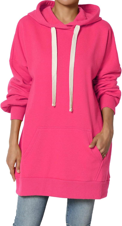 TheMogan S~3X Pullover Fleece Crew or Hooded Sweatshirt Oversized Tunic Hoodie