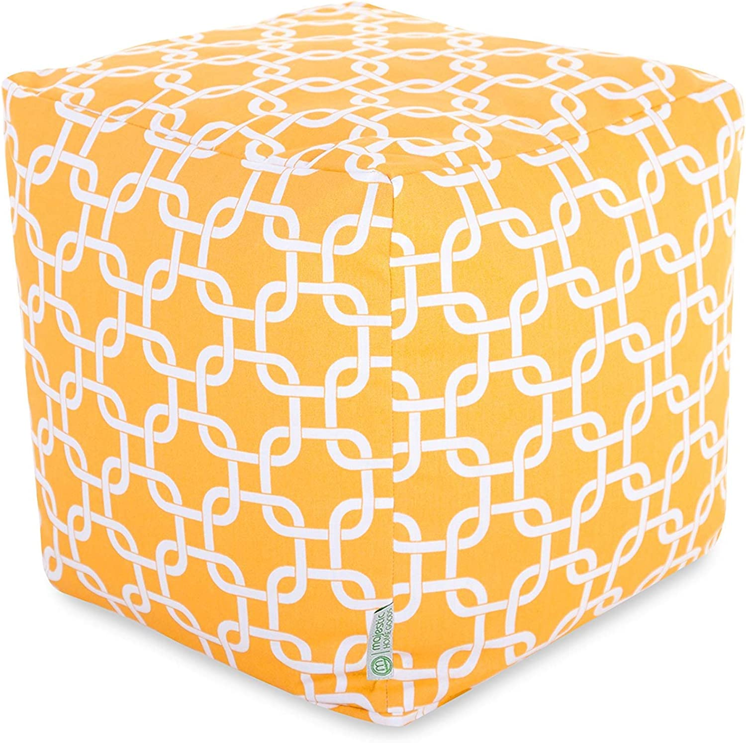 Majestic Home Goods Yellow Links Small Cube
