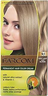 فاركم صبغة شعر غنية بخلاصة الزيتون، 9.1 اشقر فاتح جدا رمادي - 60 مل